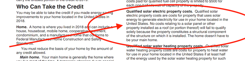 Federal Solar Tax Credit Form 5965